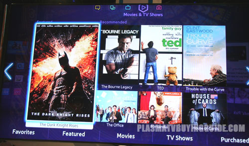 Samsung Smart Hub Movies Page